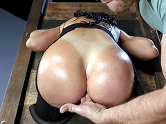 Sybil Stallone gets her butt prepared for hot anal action