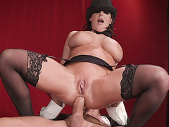 Angela White gets assfucked reverse cowgirl style