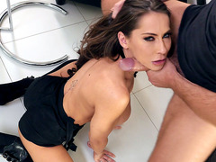 German hottie Madison Ivy orally pleasures the big shaft