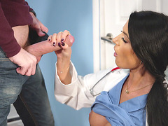Dr Ania Kinski sucks her patient's huge boner