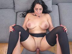 Amazing brunette Cristal Caraballo enjoys getting fucked