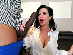 Veronica Avluv serves two BBCs with her expereinced mouth