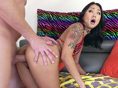 Tattooed Saya Song getting pounded from behind