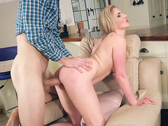 Georgie Lyall gets pussy penetrated from behind