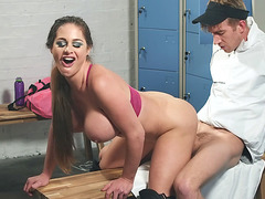 Cathy E gets pussy railed from behind