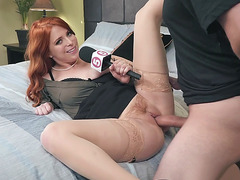 Redhead Penny Pax got pussy filled with the stiff dick