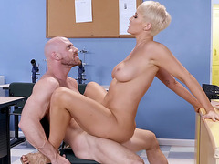 Blonde MILF Ryan Keely enjoys riding the stiff dick