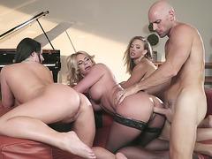 Angela White, Kagney Linn Karter and Phoenix Marie doggystyled