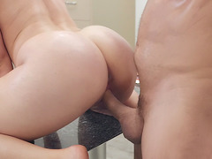 Lena Paul leaned on the des and got pounded