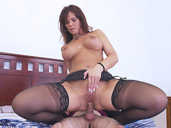 Syren De Mer rides the stiff dick with her ass