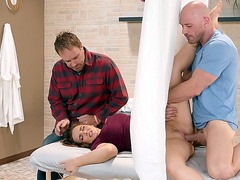 Natasha Nice getting fucked and her hubby does not see it
