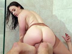Hot mom Chanel Preston enjoys riding the hard cock