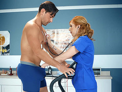 Ryan Driller came in the hospital to redhead Dr. Lauren Phillips