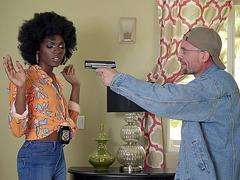 Ana Foxxx is the hot ebony cop