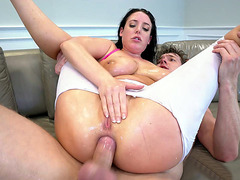 Angela White anally rides Markus Dupree
