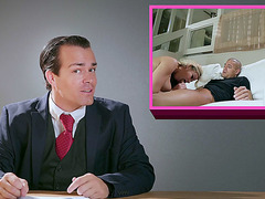 Jessa Rhodes sucks cock and licks balls