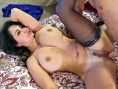 Ava Addams in black stockings got her pussy plowed