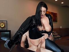 Busty MILF Angela White enjoys riding the hard rod