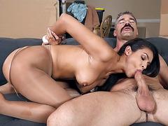 Katana Kombat demonstrates her blowjob skills