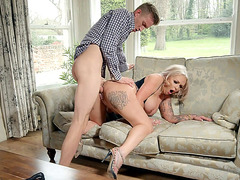 Louise Lee enjoys getting pussy pounded from behind