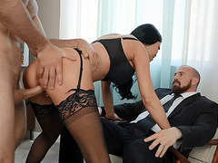British mom Jasmine Jae gets pussy fucked from behind