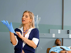 Ashley Fires is jerking the BBC in the hospital
