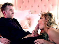 Giselle Palmer orally pleasures the big prick