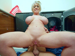 Dee Williams anally rides the hard dick on the floor