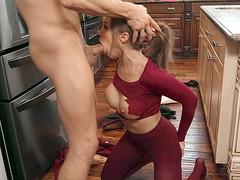 Megan Rain gets her throat fucked