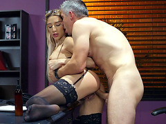 Bella Danger gets her ass banged by Mick Blue from behind