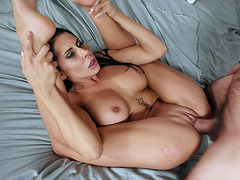 Big titted Madison Ivy enjoys getting her shaved pussy nailed