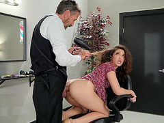 Jane Wilde gets assfucked like a bitch dog on the chair