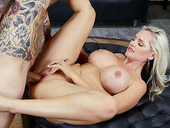 Big titted Alena Croft gets her pusy drilled by Small Hands