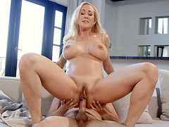 Busty Brandi Love gets fucked in reverse cowgirl position