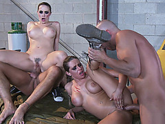 Rachel Roxxx and Chanel Preston are getting fucked in a hot 4some