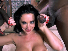 Jayden Jaymes takes two creamy shots