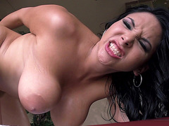 Missy Martinez gets fucked on the massage table