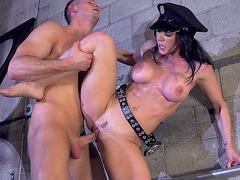 Kendra Lust having sex standing up