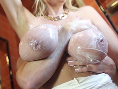 Kelly Madison takes it deep in the bathroom