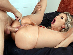 Ashley Fires is squirting being assfucked by Marcus Dupree