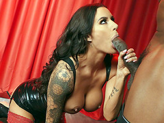 Gia DiMarco gives nice blowjob to Isiah Maxwell
