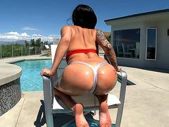 Young girl Karmen Karma has sexy round butt