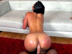 Kelsi Monroe gets fucked in the ass doggystyle