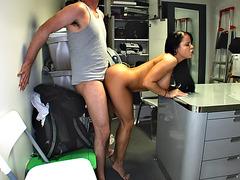 Nikki Delano having sex standing doggy style