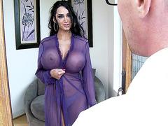 Big boobed chick Amy Anderssen seducing a guy