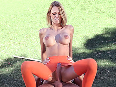 Erica Fontes riding large cock outdoor