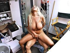 Big boobed Latina Bridgette B rides his dong