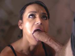 Franceska Jaimes shoves that pole down her throat