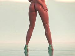 Fine ass girl Mia Malkova posing under the sun