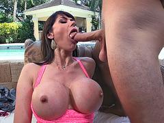 Eva Karera slobbered all over the cock